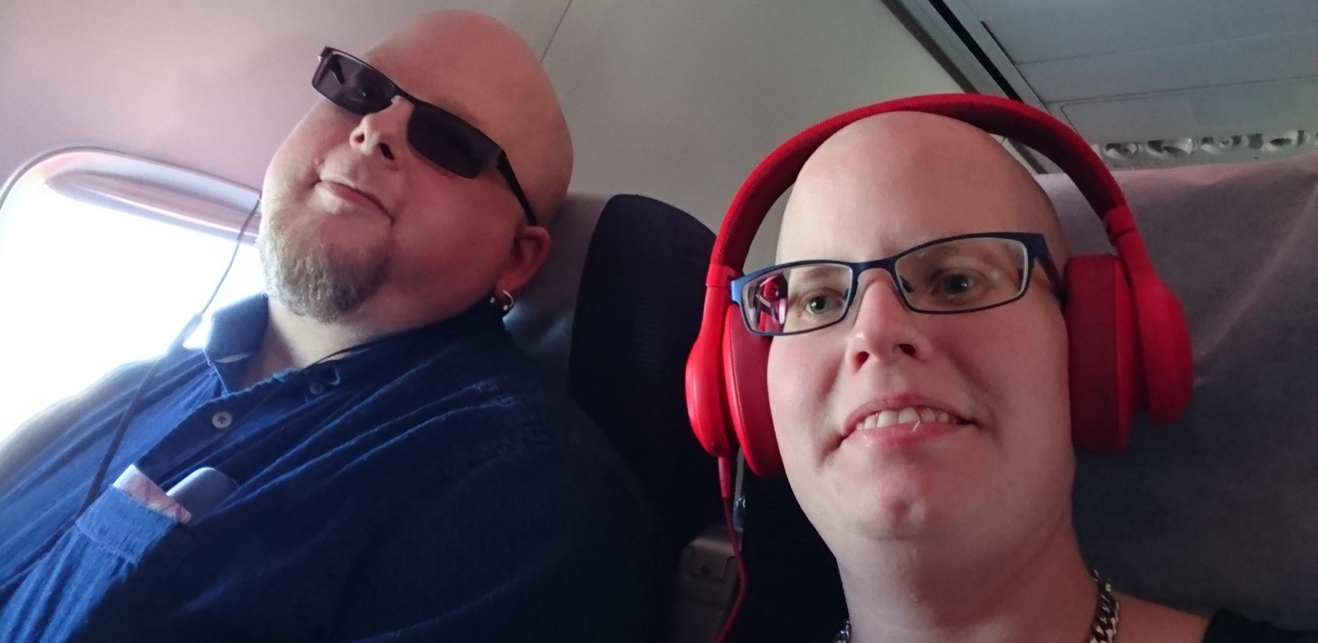 Magnus och jag flyger till Dublin