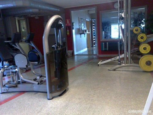 Tränat på gymmet