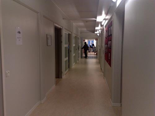 Korridoren på mitt jobb.
